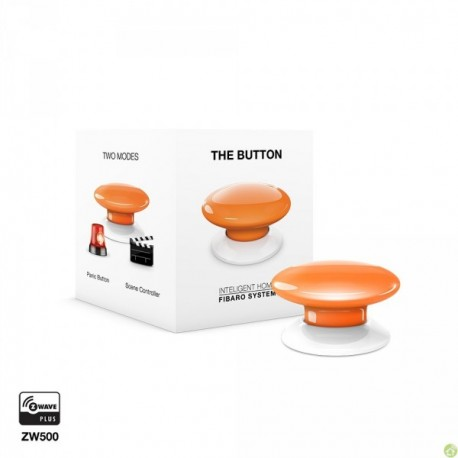 FIBARO The Button Arancione FGPB-101-8