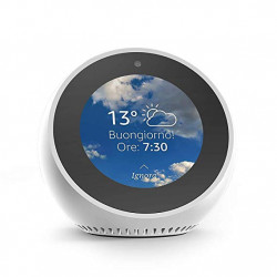Amazon Echo Spot - An intelligent speaker with a screen, with Alexa - White