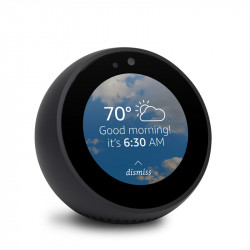 Amazon Echo Spot - An intelligent speaker with a screen, with Alexa - Black