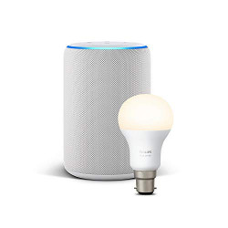 Echo Plus (2nd generation) - White + Philips Hue White Light bulb