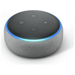 Echo Dot (3rd generation 2018) by Amazon - Smart speaker with Alexa integration - Heather Gray