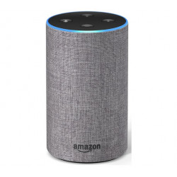 Amazon Echo (2nd generation) - Smart speaker with Alexa integration - Heather Grey Fabric
