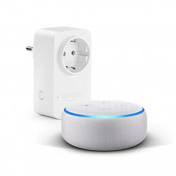 Echo Dot (3rd generation) - White + Amazon Smart Plug, compatible with Alexa
