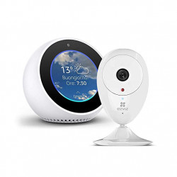 Amazon Echo Spot, White + EZVIZ ezCube Pro IP Security Camera
