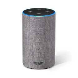 Amazon Echo (2nd generation) - Smart speaker with Alexa integration - Anthracite fabric