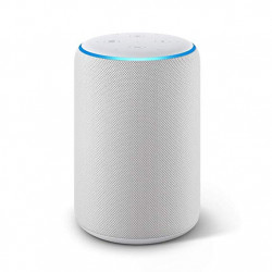 Echo Plus - Integrated Smart Home Hub and premium sound - Light gray fabric