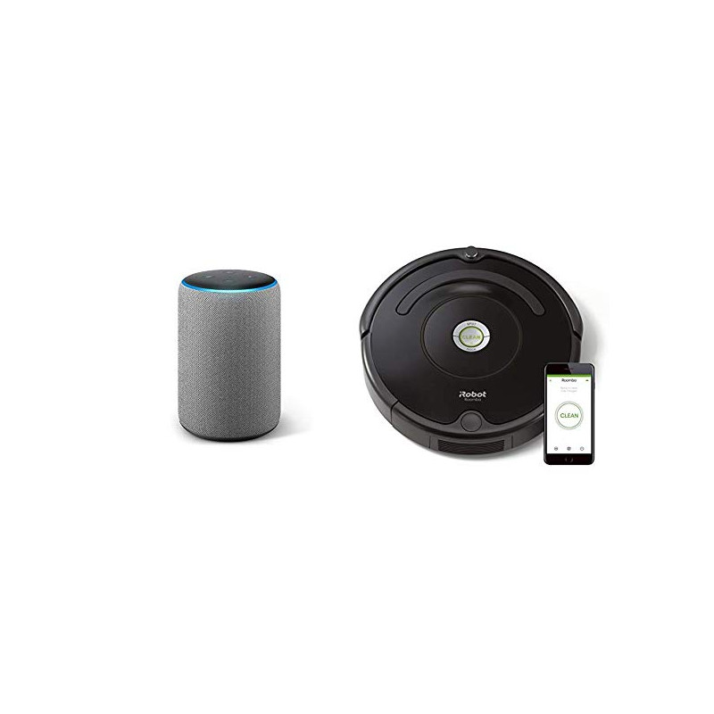 Aspirapolvere Robot Roomba.Echo Plus Dark Grey Irobot Roomba 671 Robot Vacuum Cleaner