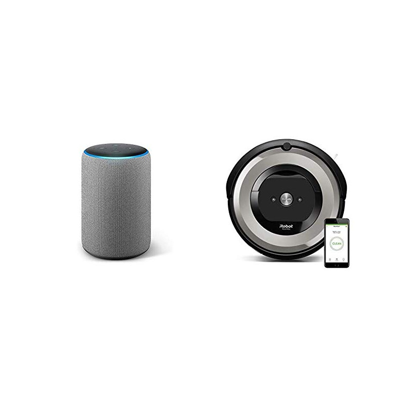 Aspirapolvere Robot Roomba.Echo Plus Dark Grey Irobot Roomba E5154 Robot Vacuum
