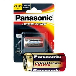 Batteria Panasonic CR123a Lithium Power CR123AL/1BP