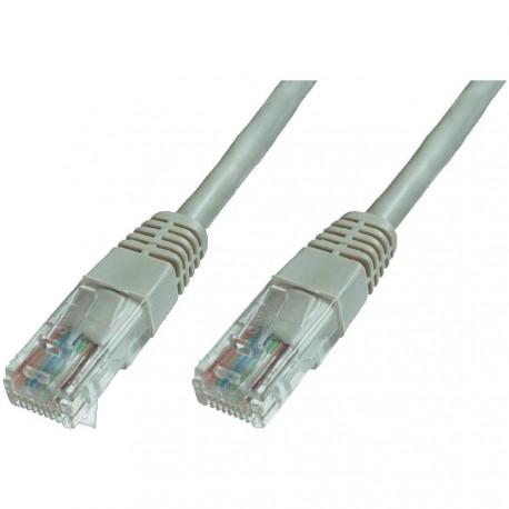 Cavo di rete Patch in CCA Cat.6 UTP 2 m Grigio Certificato UL, con protezione
