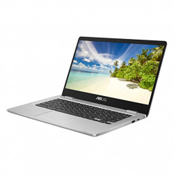 ASUS Chromebook C423NA (Argintiu) (Intel Celeron N3350, 4 GB RAM, 32 GB eMMC, 14 Inch HD Screen, Chrome OS)