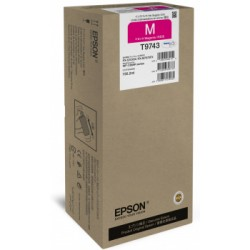 Epson T9743 Cartuccia originale Inkjet C13T974300 Magenta XXL per la WorkForce Pro WF-C869R