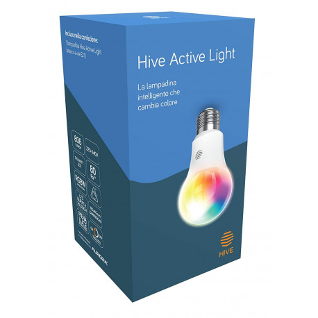 Lampadina Hive Active Light a intensità regolabile da bianco freddo a caldo. Richiede Hub Hive - Compatibili Google Home